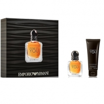 Kit Coffret Giogio Armani Emporio Stronger With You Masculino Eau de Toilette