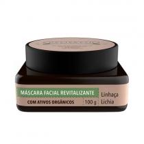 Máscara Facial Revitalizante Lichia E Linhaça Delifresh Organics