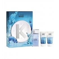 Kit Coffret L'eau Kenzo Homme Masculino Eau De Toilette