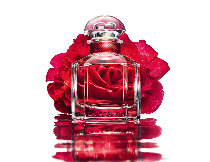 Mon Guerlain, o novo eau de toilette: Bloom of Rose. (Perfurmer since 1828. Paris)